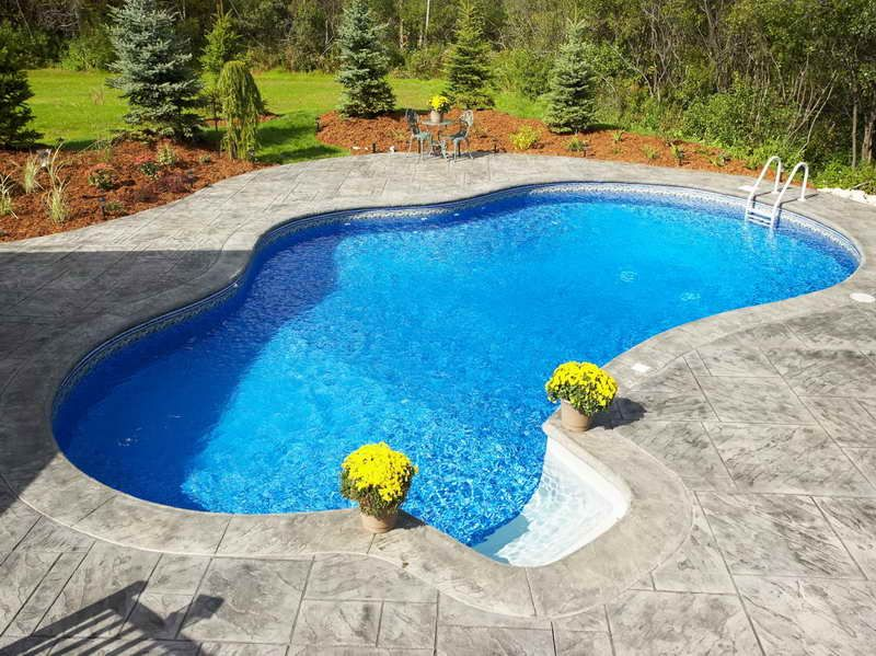 small inground pool photo gallery small inground swimming pool with regular design pools. Black Bedroom Furniture Sets. Home Design Ideas