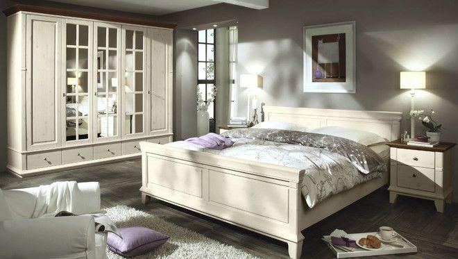 Loddenkemper lmie Georgia Liperi Bett Kiefer massiv weiss Kandhaus - schlafzimmer kiefer weiß