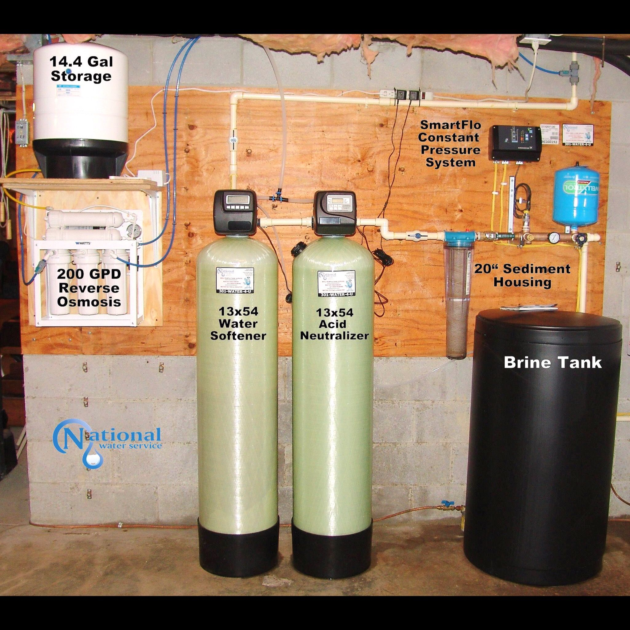Popular Installation Water Treatment System Water Softener Water Softener System