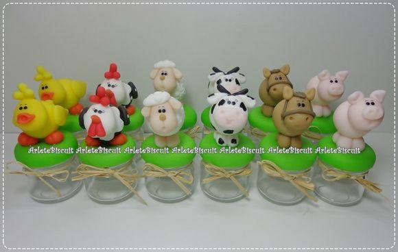 Lembrancinha Potinhos Fazendinha Com Imagens Fazenda Festa Na