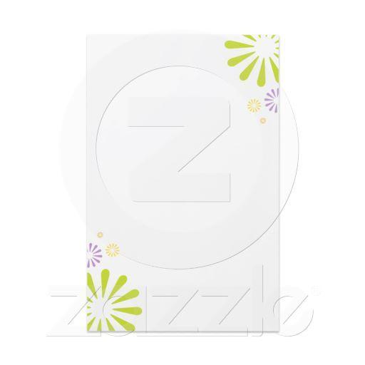 Springy Colorbursts Custom Stationery