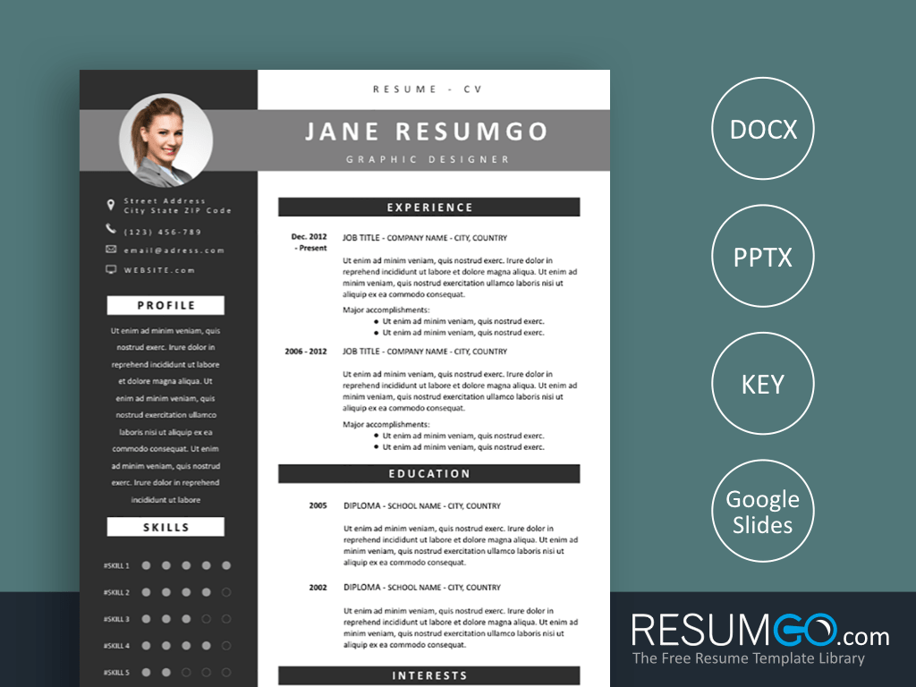 Oinone Is A Gray Modern Free Resume Template 2 Column Structure With A Dark S Modern Resume Template Free Online Resume Templates Resume Cover Letter Examples