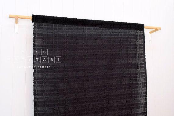 Japanese Fabric Kokka Tsumiki Plaid textured by MissMatatabi