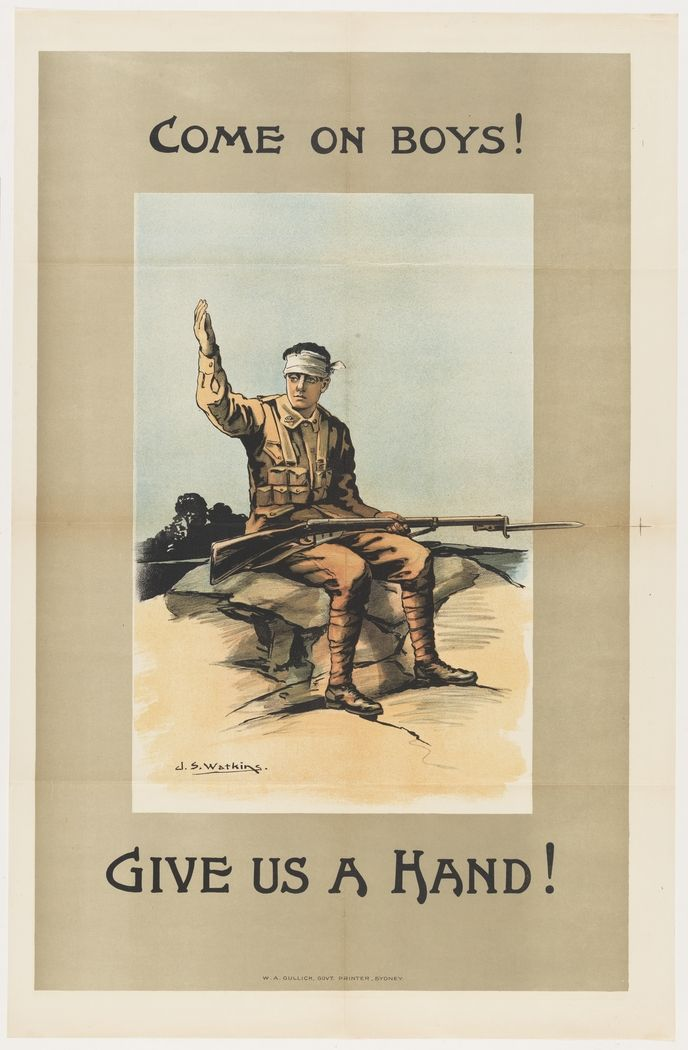 Come On In Entry Way Decor Inspiration: Come On Boys, Give Us A Hand! / WWI Enlistment Poster From