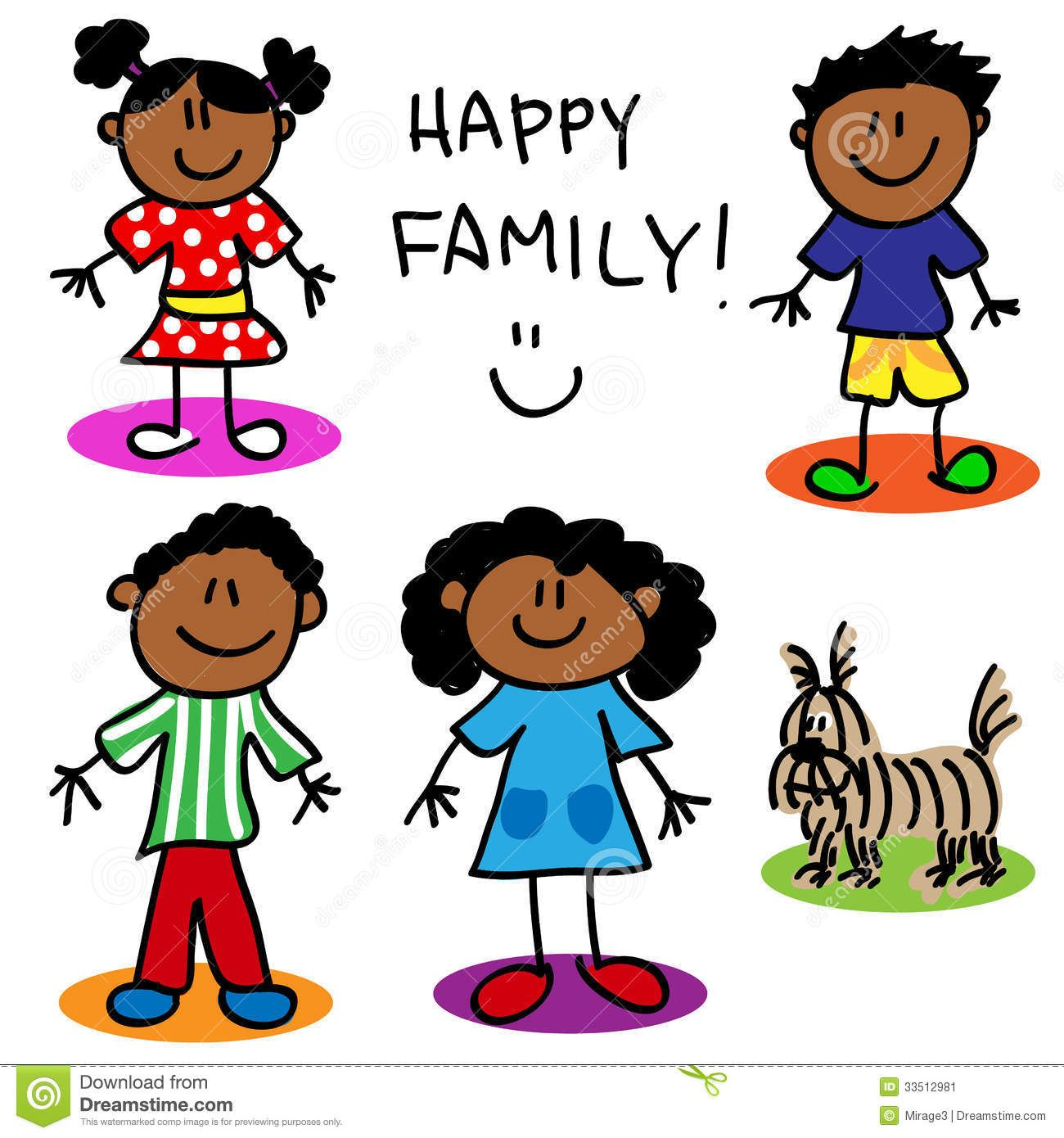 Stick Figure Black Family - Download From Over 54 Million ...