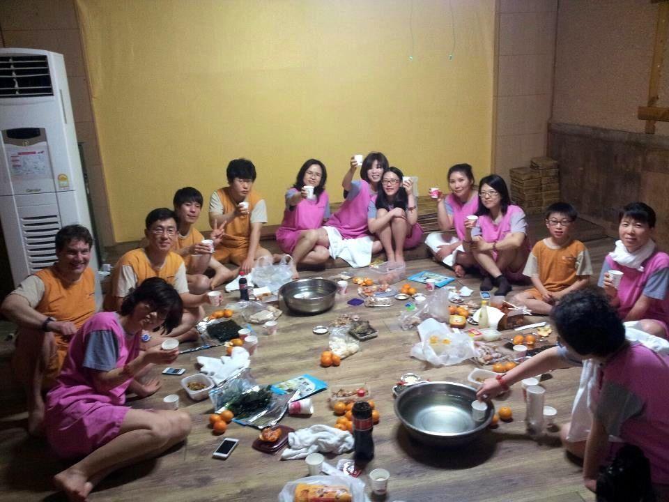 A social gathering Expat teacher and her Korean friends