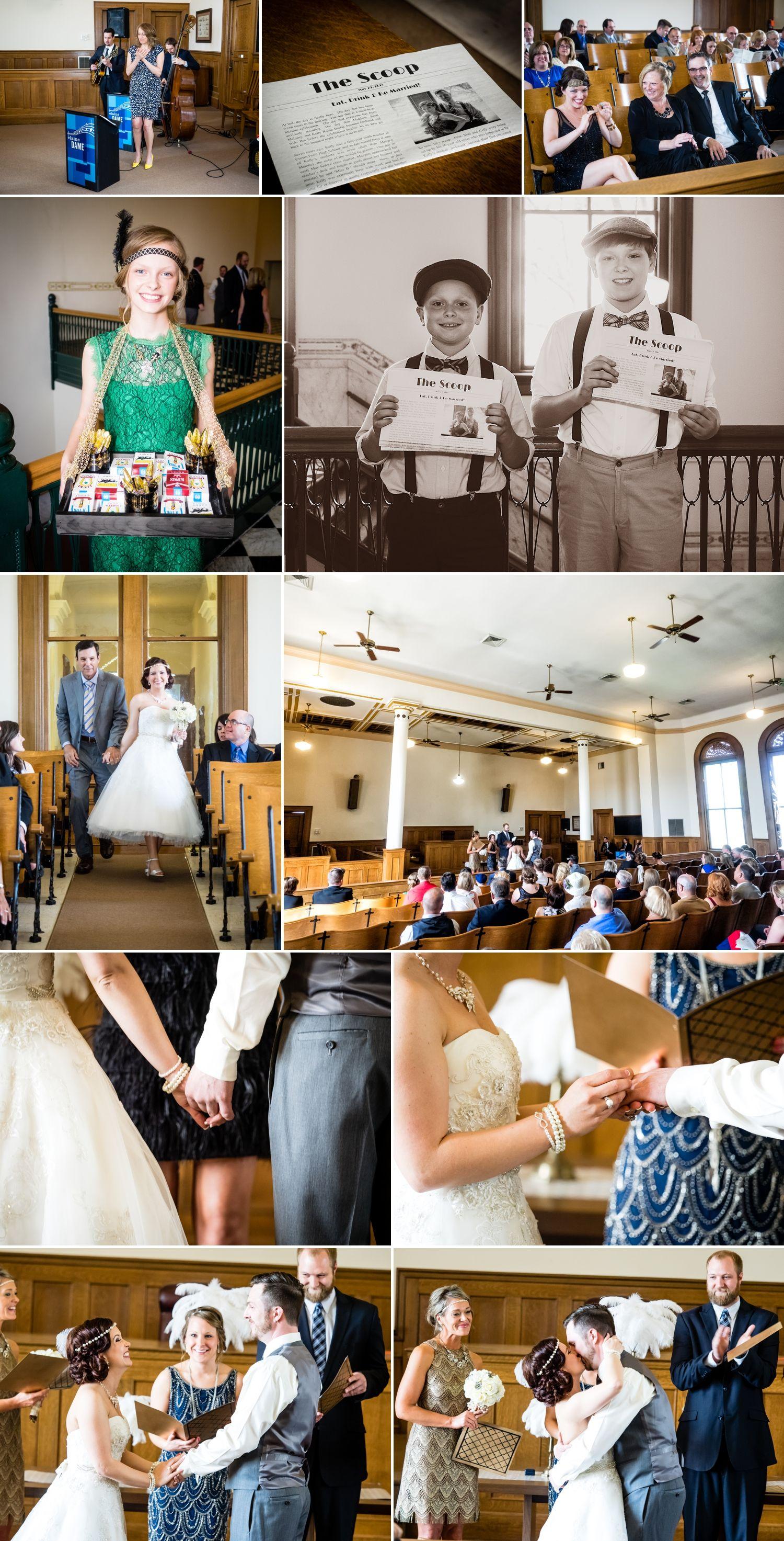 Crown Point Courthouse Wedding Photos