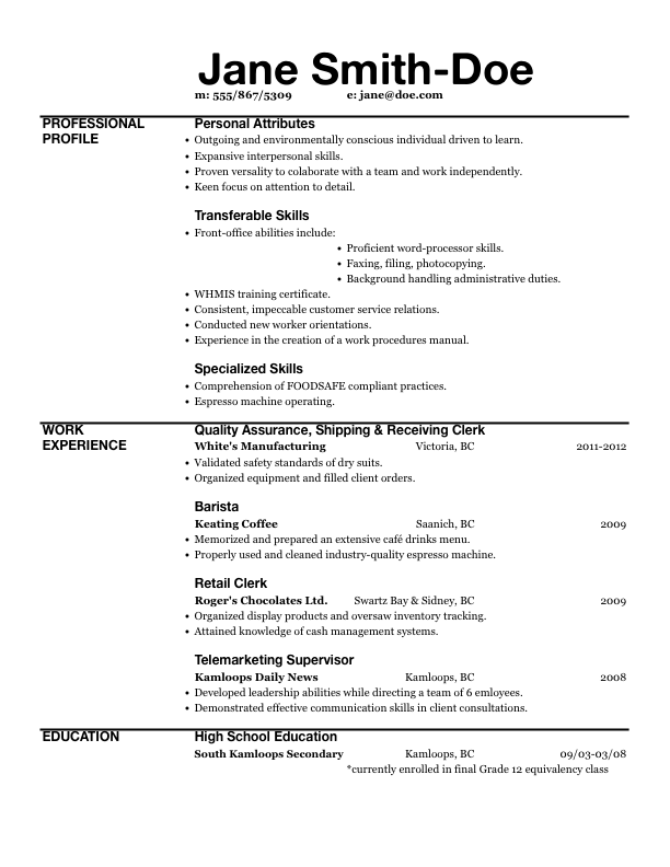 Resume Templates Excel 4 Templates Example Templates Example Resume Templates Best Free Resume Templates Free Printable Resume Templates