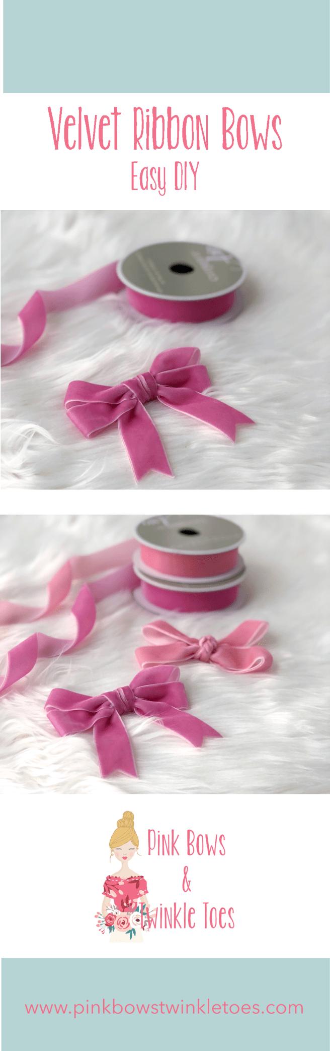 Easy DIY: Velvet Ribbon Bows Part 3 #howtomakeabowwithribbon
