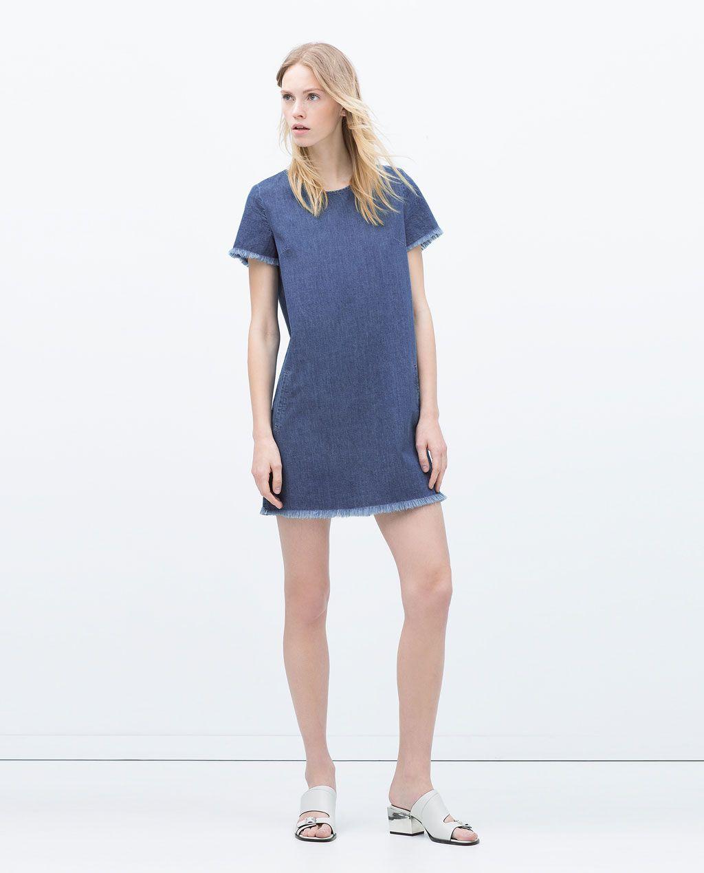 ZARA - NEW THIS WEEK - DRESS WITH FRAYED HEM