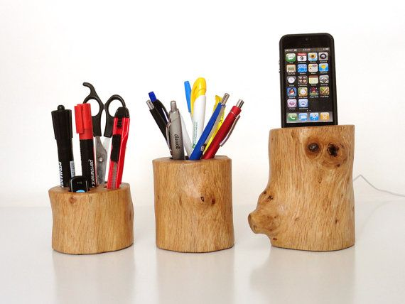 iphone dock / office organizer / pen holder - iphone 4, iphone 5