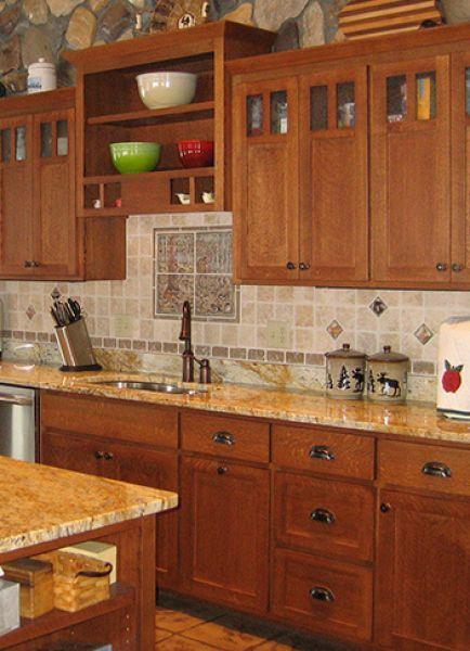 Mission Style Quarter Sawn Oak Kitchen Cabinets. mission style ...