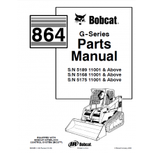 Bobcat 864 G-Series Skid Steer Loader Parts Manual PDF