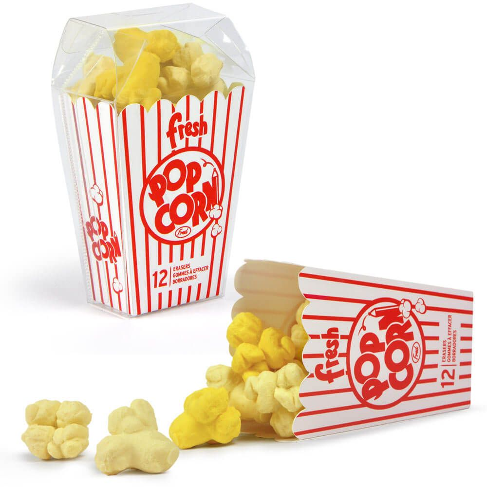 Fresh Popcorn Hot Buttered Erasers | Corny gifts, Erasers ...