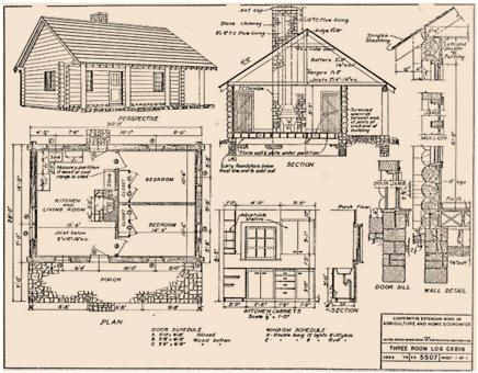 Log Cabin Plans From North Dakota State University Log Cabin Floor Plans Log Cabin House Plans Log Cabin Plans