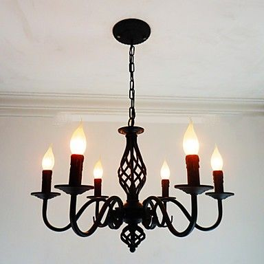 Artistic Chic Modern Others Feature For Candle Style Metal Living Room Indoors Dining Room 6 Bulbs Chandelier Lightingo Co Uk Metal Living Room Candle Style Chandelier Iron Lighting Fixtures