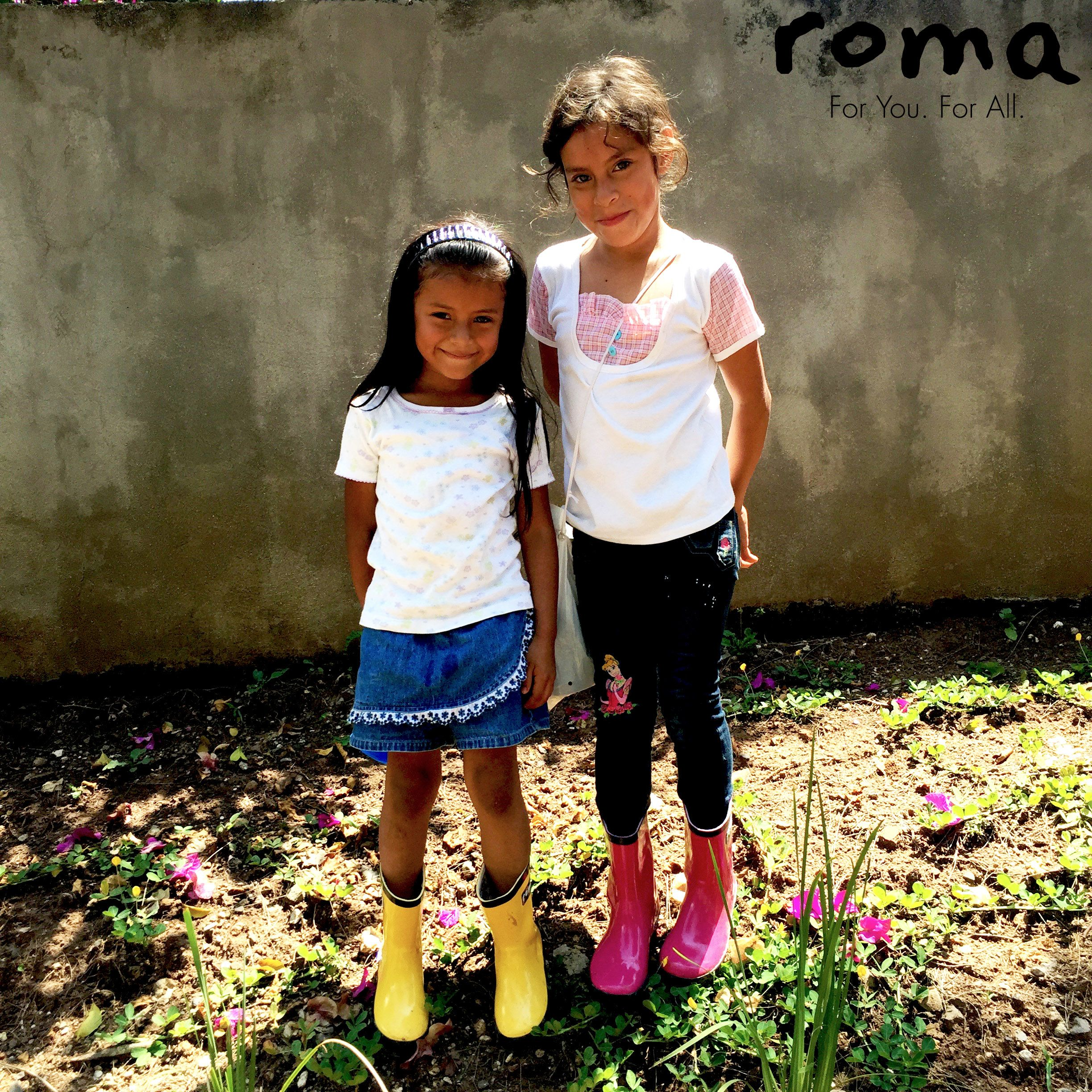 Flowers and smiling kids are signs of Spring in Guatemala too! #BootDrop #Guatemala #RomaBoots