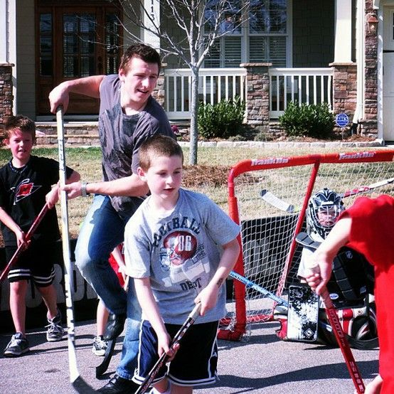 Would you like to play street hockey with Hurricanes players