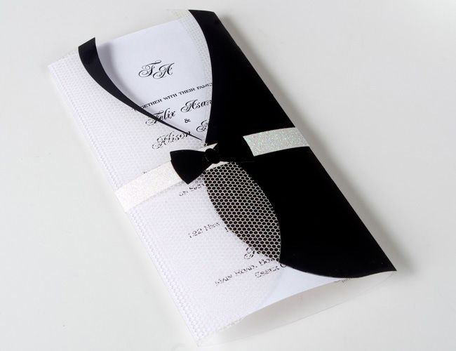 Tuxedo Modern Wedding Invitations UK | Classic Invitations ...