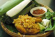 Bandung's nasi timbel