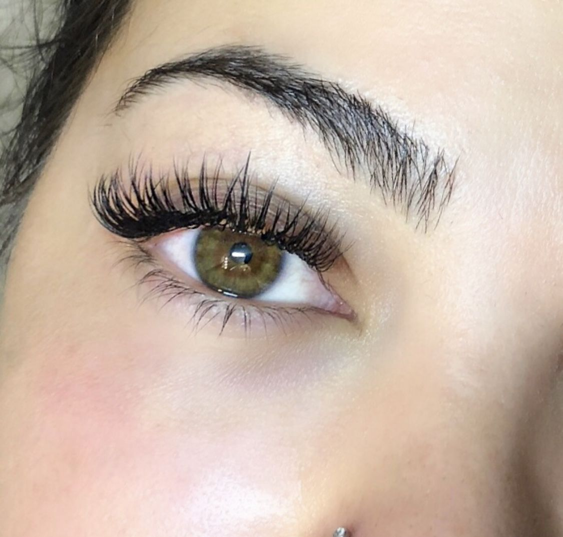 2694bd69373 eyelash #extensions #hybrid #eyes #green #lashes #beauty #beautiful ...