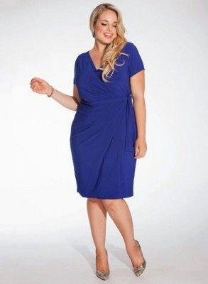 Vestidos para gorditas de color azul