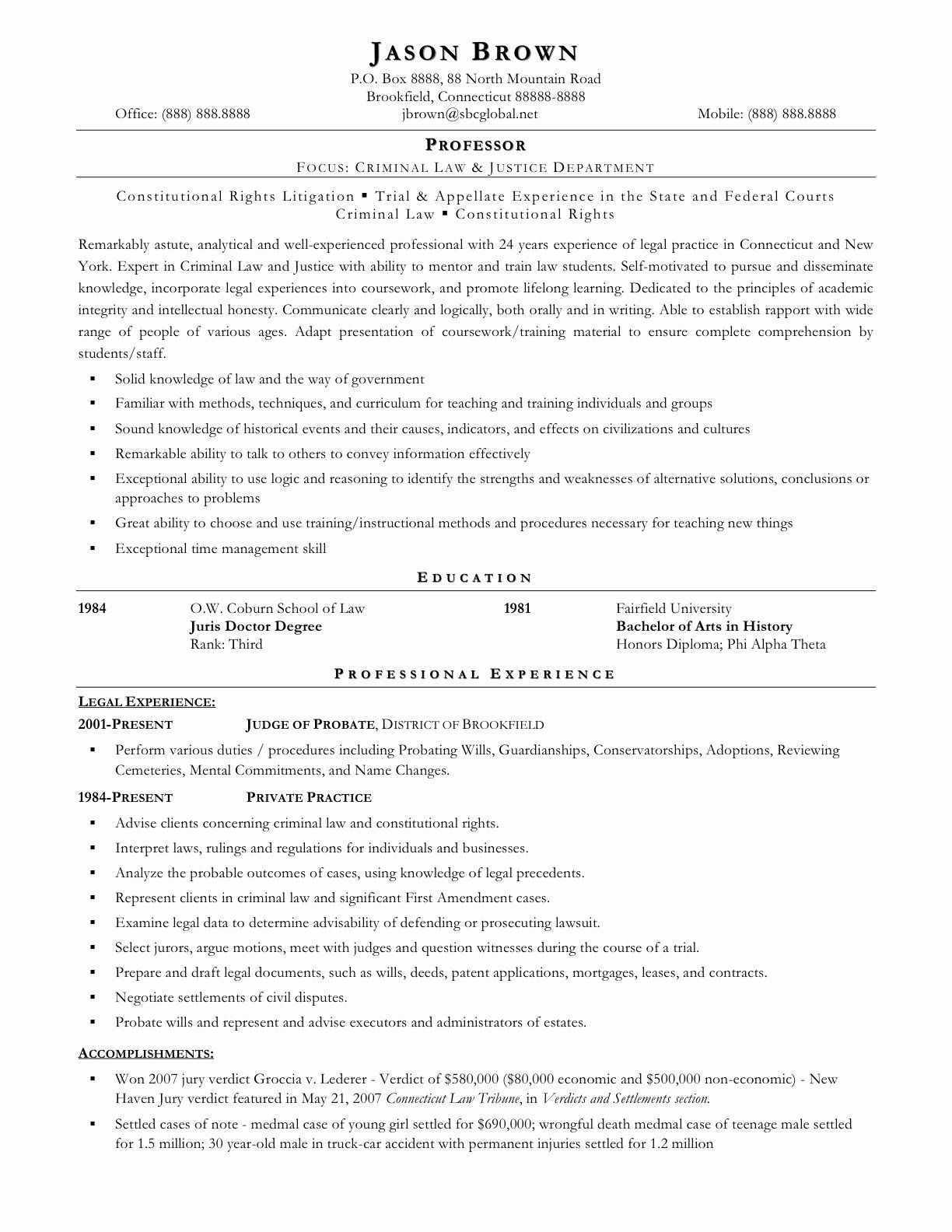25 Entry Level Paralegal Resume in 2020 (With images