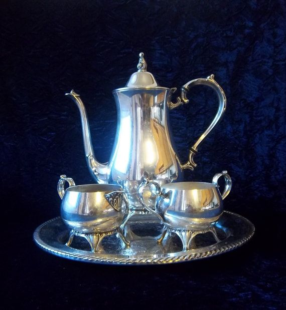 Silver Plated Coffee Serving Set By Dayjahview On Etsy 125 00