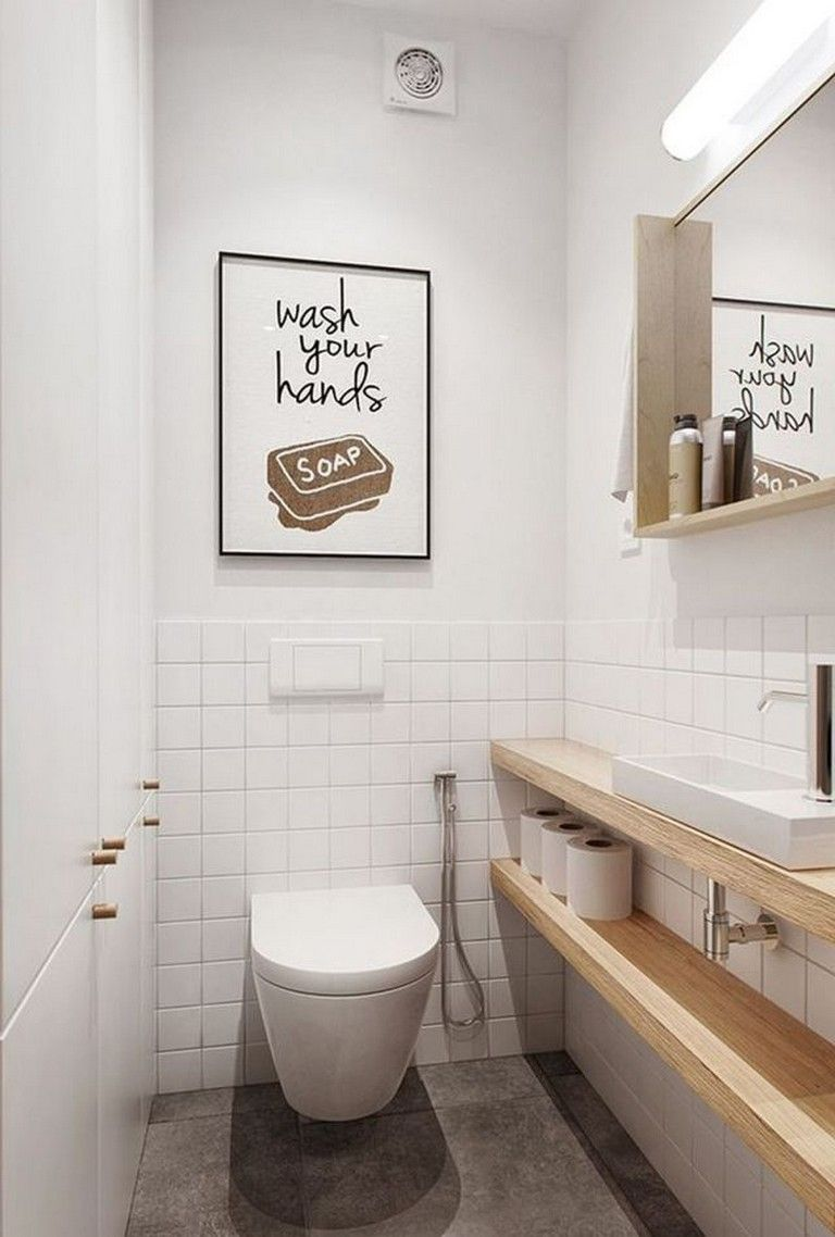 25 Beautiful Small Toilet Design Ideas For Small Space in Your Home #smalltoiletroom