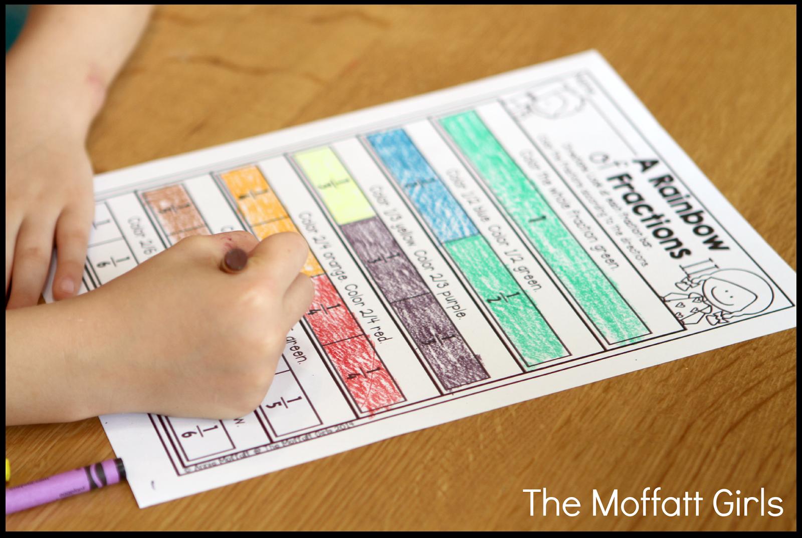 The Moffatt Girls Teaching Simple Fractions