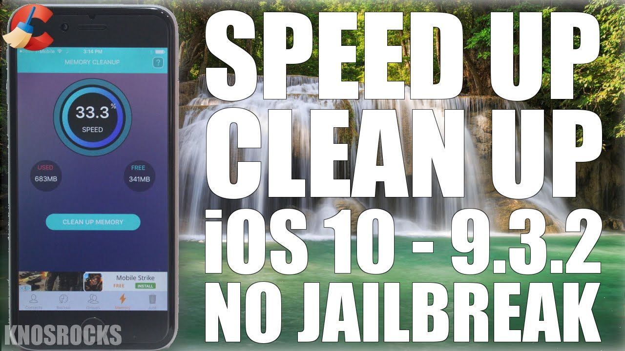 How To Clean & Free Up More Space iOS 10 - 9.3.2 No Jailbreak Make iPhon...