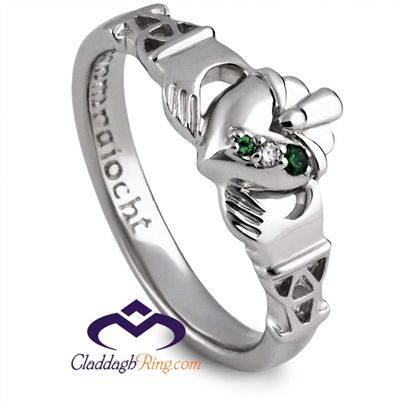 """The Purity Ring has the Gaelic word for Purity; """"Geanmnaoicht"""" inscribed inside the ring shank."""