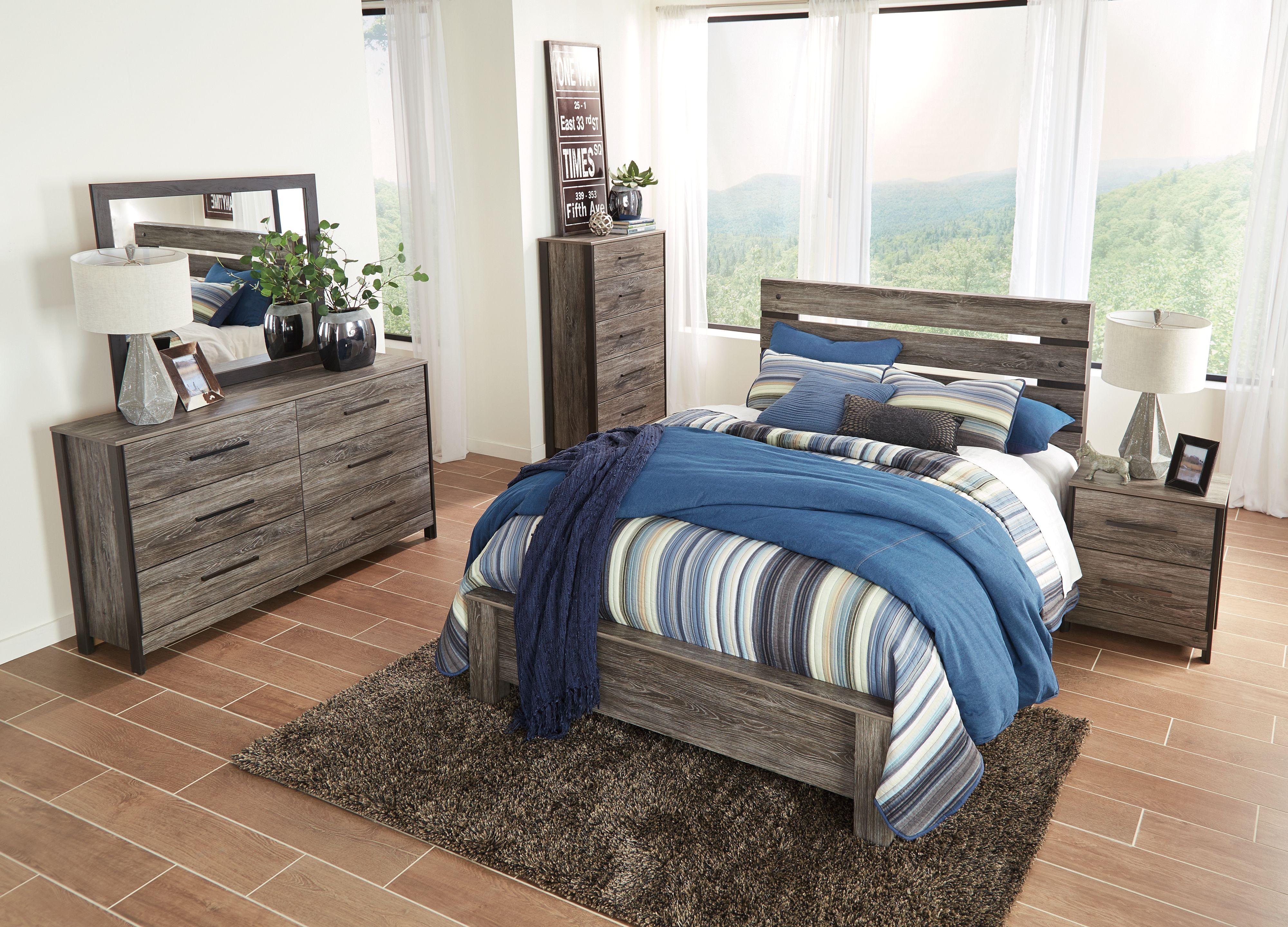 Cazenfeld Queen Panel Headboard Bedroom set, Wood