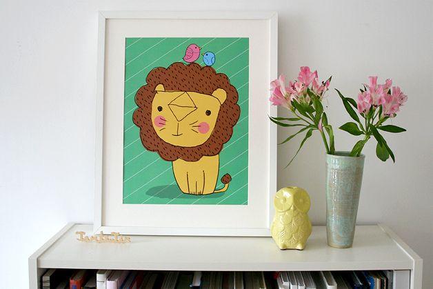 Poster Löwe von Tante Tin auf DaWanda.com