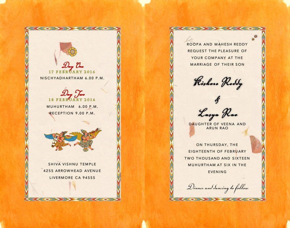 South Indian Kalamkari inspired Wedding Card inside   Indian ...