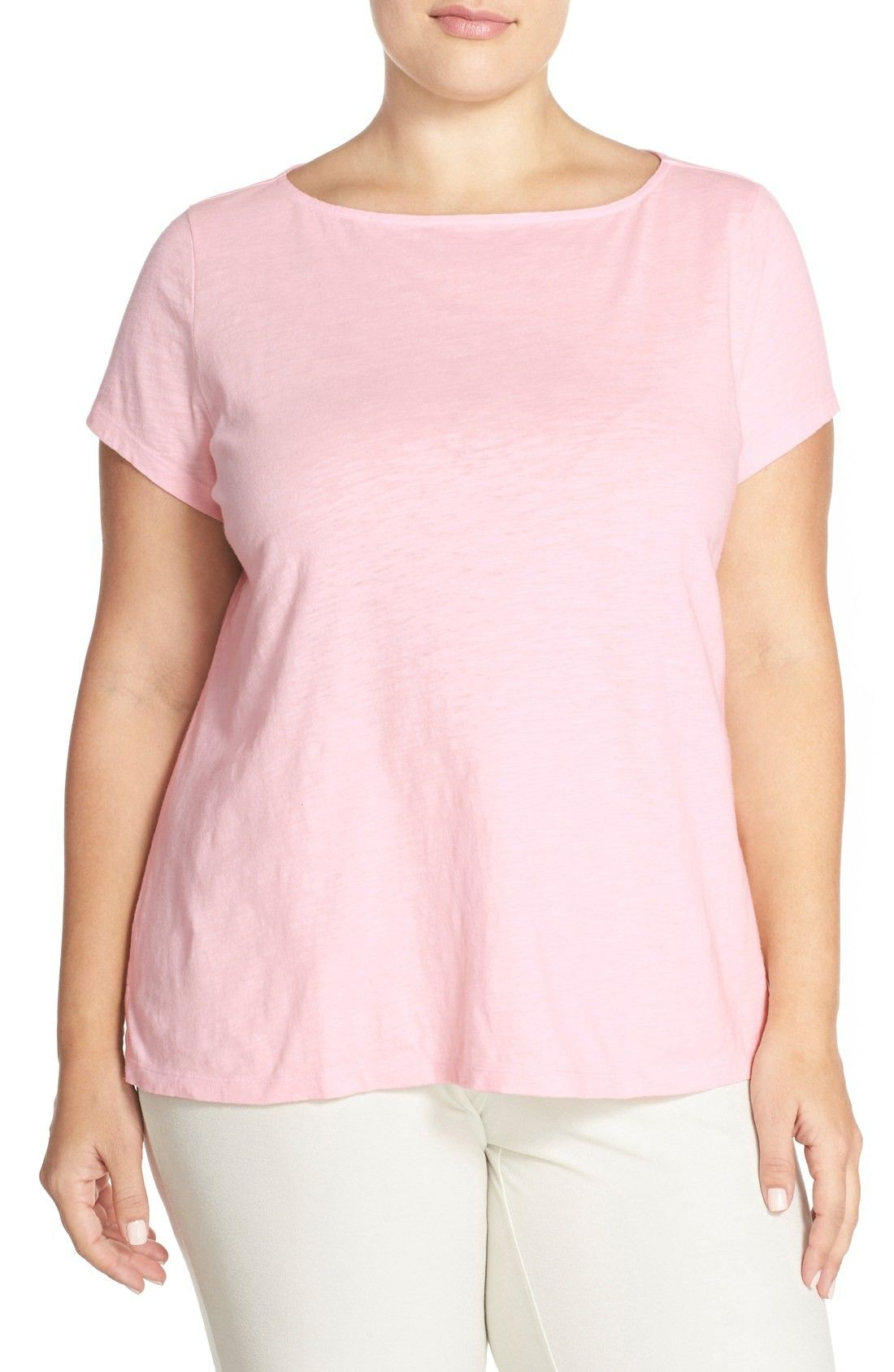 5e2fed1b Eileen Fisher Short Sleeve Jersey Bateau Neck Top (Plus Size) |  Fashiondoxy.com Description - Free shipping and returns on Eileen Fisher  Short Sleeve Jersey ...