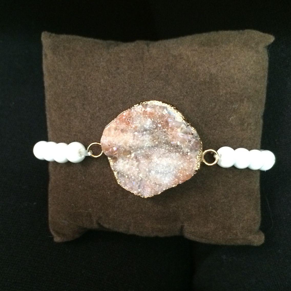 Beautiful Druzy bracelet I just made! #DIY