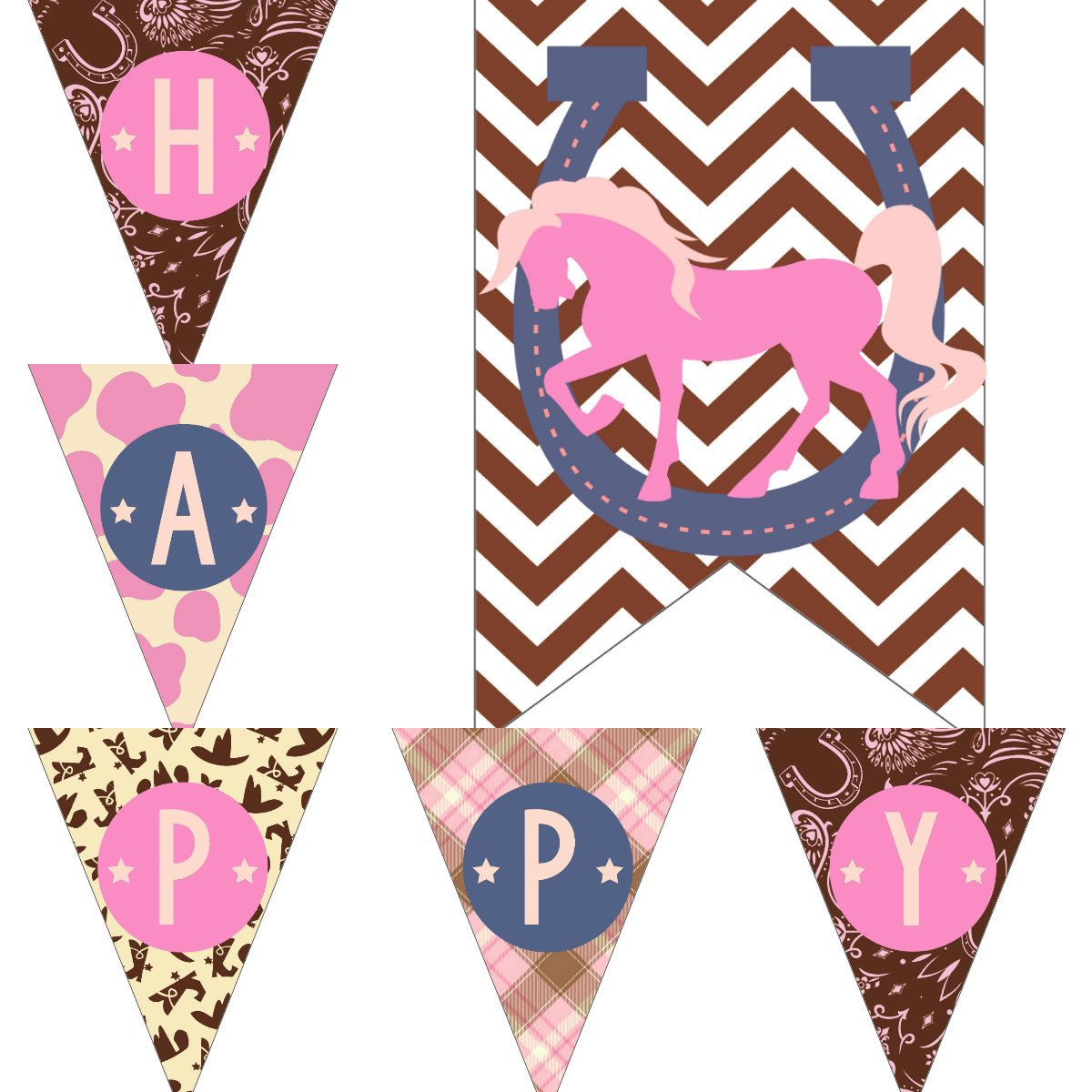 Cowgirl Birthday Decorations Cowgirl Birthday Decorations Pink Horse Cowboy Party Pack Package