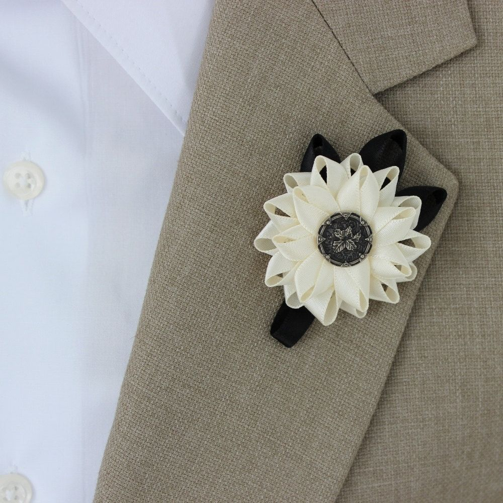 Mens Boutonniere Grooms Flower Mens Lapel by PetalPerceptions