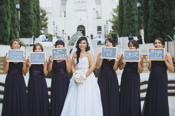 Snap A Photo With Your Bridesmaids Holding Up Signs Saying