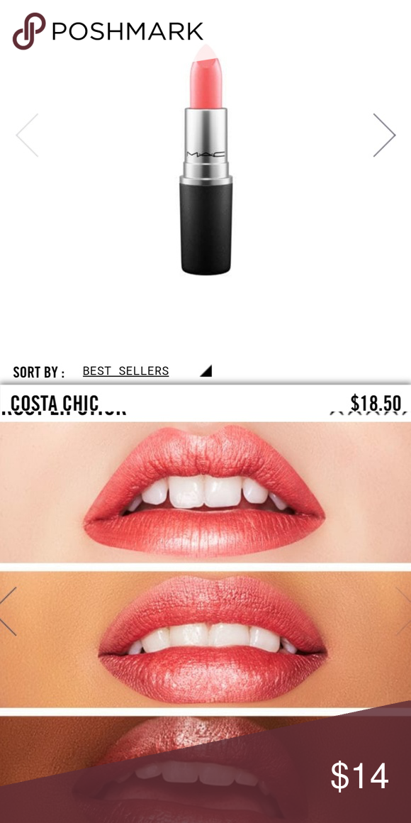 MAC Costa Chic lipstick NIB Coral frost lipstick, new in