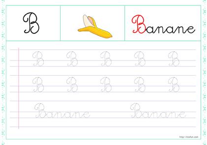 Pdf Apprendre à écrire Alphabet Majuscule Cursive à