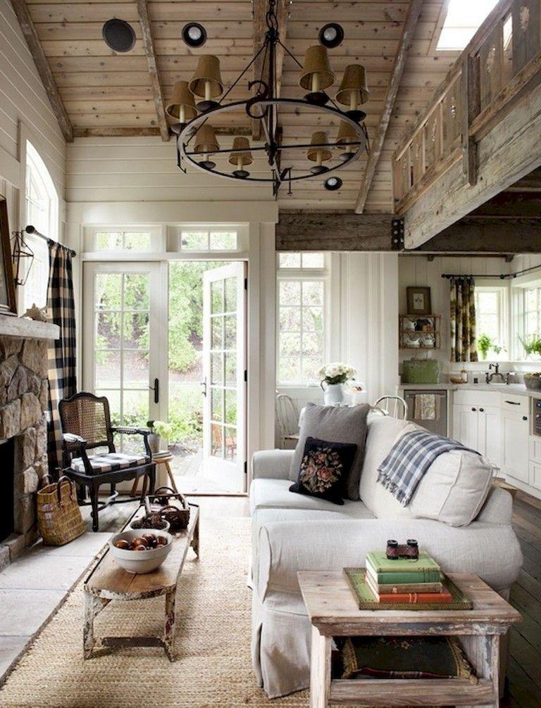 68 Beautiful And Quaint Cottage Interior Design Decorating Ideas Interiordesign Interiordes Country House Decor Cottage Interiors Country Living Room Design