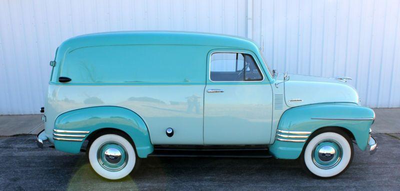 1954 Chevy Panel Truck 6 Cylinder 4 Speed Classic Trucks Vintage Trucks Classic Cars Trucks