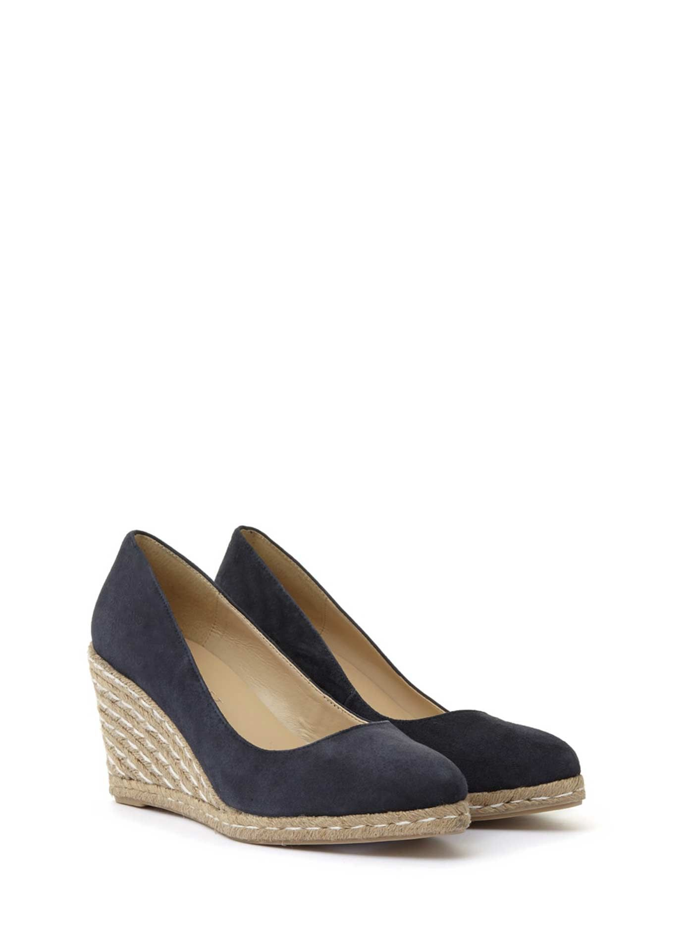 68aecad10aa Navy Grace Espadrille Wedge