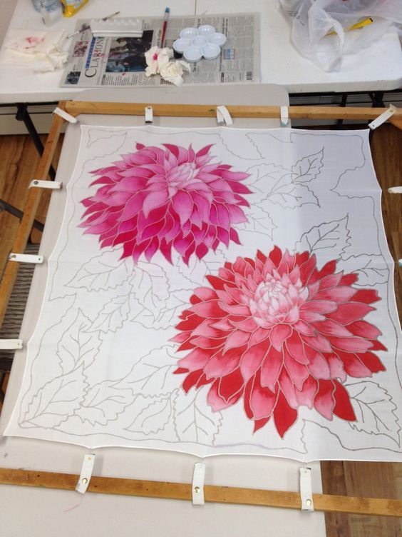 Aprender a pintar sobre seda ... divertido: