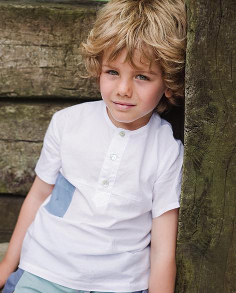 Camisa blanca bolsillo de aviones | Corazón de león KIDS moda infantil