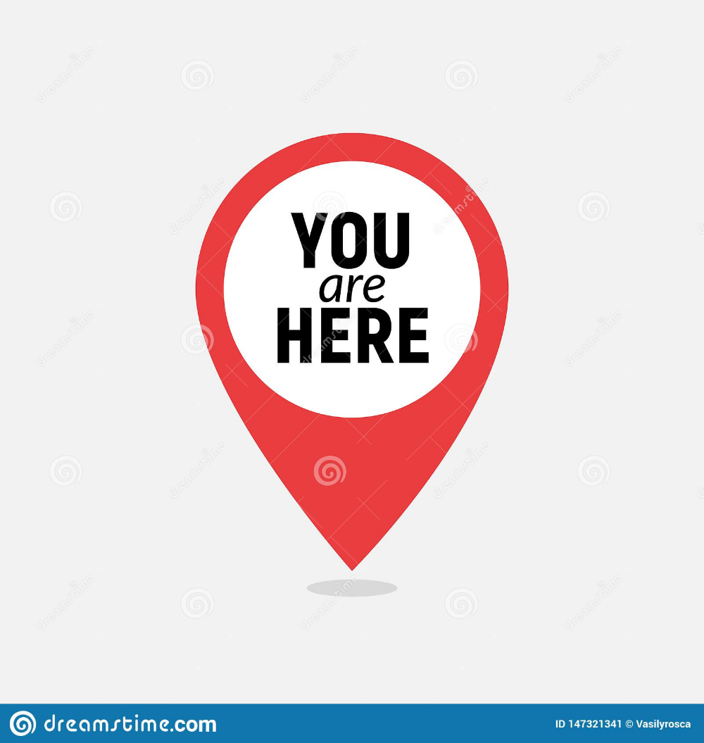 Illustration About You Are Here Sign Icon Mark Destination Or Location Point Concept Pin Position Marker Design Illustration Of Find Icon Markers Web Design