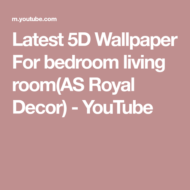 Latest 5d Wallpaper For Bedroom Living Roomas Royal Decor