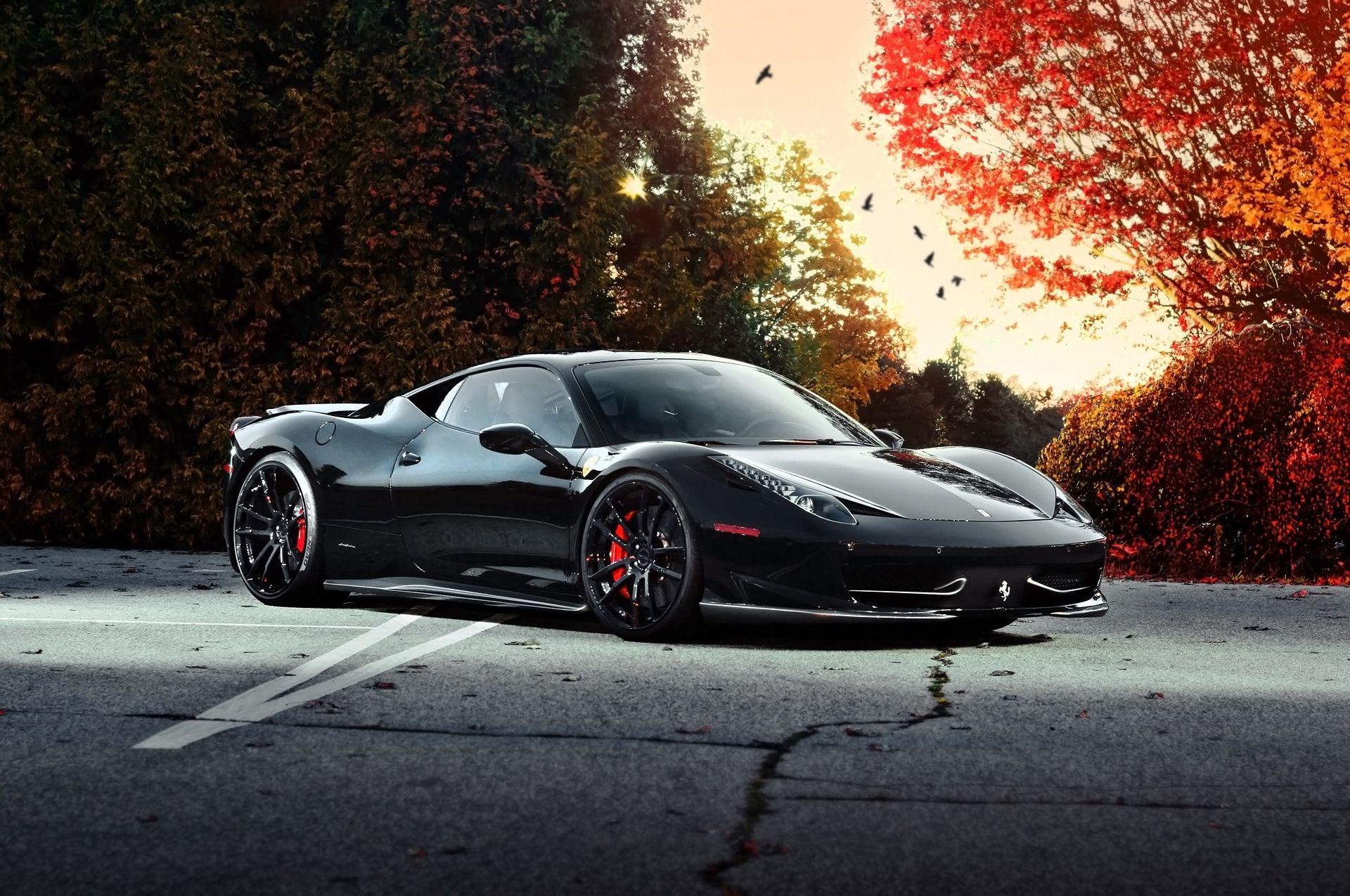 Обои Феррари, Ferrari 458 italia, улица. Автомобили foto 15